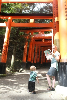 Readers Mercedes and Jack Ellis in Japan.