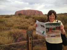 Writer Margaret Hellyer at Uluru.