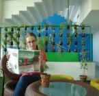Reader Olivia Platek in Pune, India.