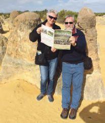 Long-time volunteers Jenny and John Ford at the Pinnacles, WA.