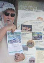 Our bookkeeper John Ford on Fraser Island!