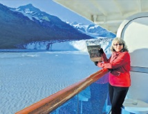 Photographer Barbara Oehring cruising in Alaska