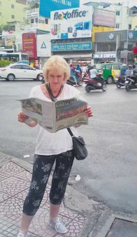 Mary Trinnie, our office team volunteer, in Vietnam.