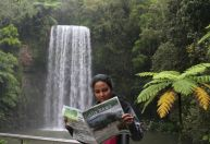 Assistant editor Prasadini Nanayakkara at Millaa Millaa Falls, Atherton Tablelands in North QLD.