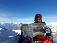 Reader Anthony Myszka on the summit of Island Peak, Nepal (8km from Mount Everest).